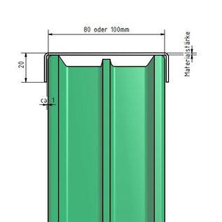 Versandmetall Profil encadrement pour briques de verre, en acier inoxydable de 1,0mm, longueur jusqu'à 2500mm