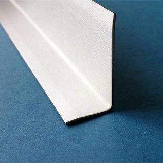 Versandmetall Corniere de finition intérieur, profil de finition, longueur 2.500mm , surface brossé  en grain 320