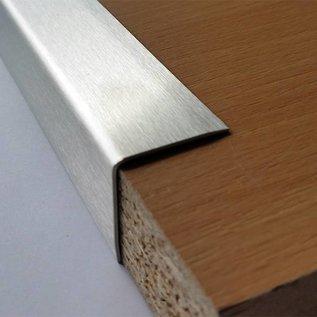 Versandmetall Kantenschutzwinkel 3-fach gekantet ungleichschenkelig Länge 2000mm aussen Schliff K 320