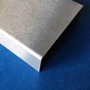 Versandmetall Profil encadrement pour briques de verre, en acier inoxydable de 2,0mm, longueur jusqu'à 2500mm