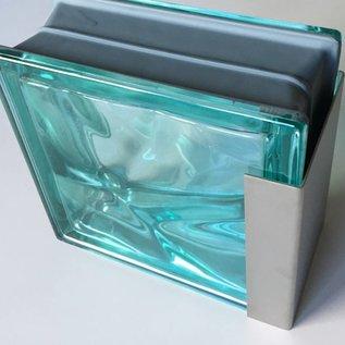 Versandmetall Profil encadrement pour briques de verre, en acier inoxydable de 1,5mm, longueur jusqu'à 2500mm