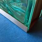 Versandmetall Einfassprofil Glasbaustein Edelstahl 1,0 mm Längen bis 2500mm