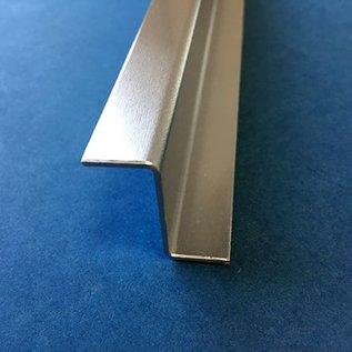 Versandmetall Z-Profiel Aluminium gezet Breedte c 30 mm Lengte 1250 mm