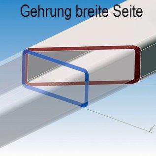 Tubes de décoration carré acier inoxydable 1.4301 surface brossé en grain 240