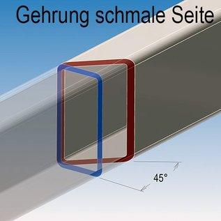 vierkant Buizen Kokerprofiel roestvrij Staal gezaagd geschuurd(grid240)