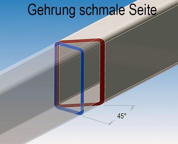 Inox tube carr/é rectangle bross/é tube de construction 20x10x1,5mm 1000mm