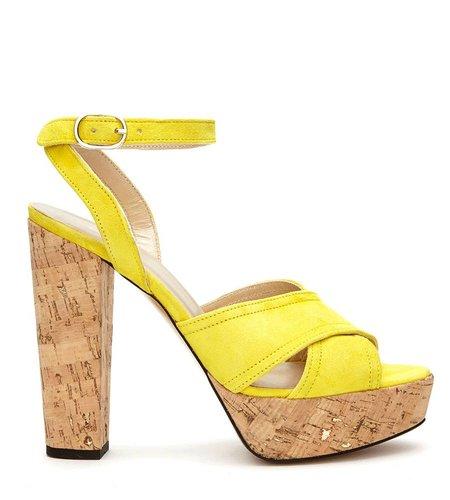 Fabienne Chapot Romy Pump Suede Dazzling Yellow