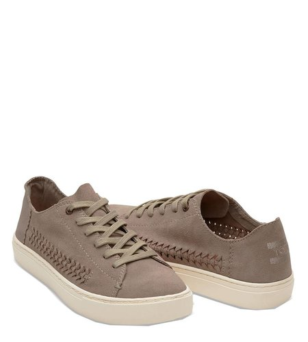 TOMS Lenox Suede Woven Desert Taupe