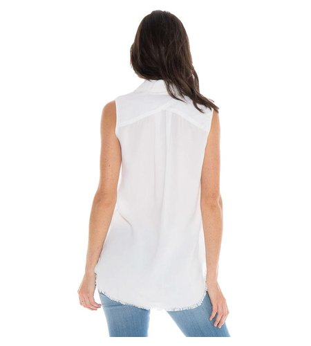 Bella Dahl Crossback Yoke Tank White
