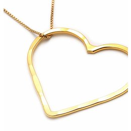 SeeMe Medium Heart Long Venetian Chain