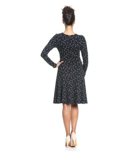 Vive Maria Sweet Swing Dress Dark Navy Allover