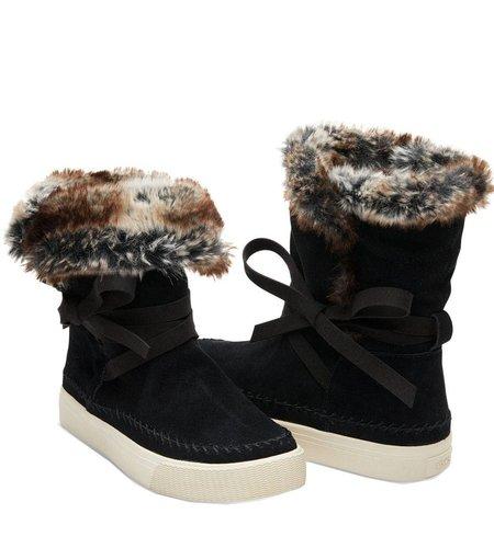 TOMS Vista Boot Suede Faux Fur Black