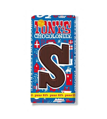 Tony's Chocolonely Letterreep S Puur 51%