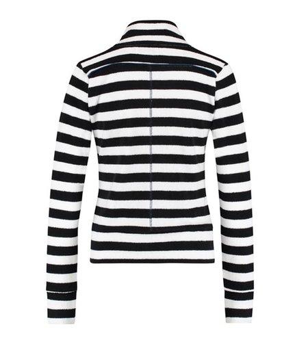 IEZ! Jacket Terry Stripe Black White