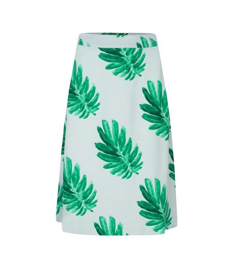 Fabienne Chapot Mae Skirt Light Blue Leaf Green