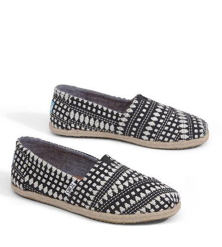 TOMS Alpargata Tribal Rope Black