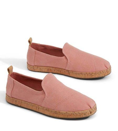 TOMS Alpargata Bloom Hemp Cork Pink