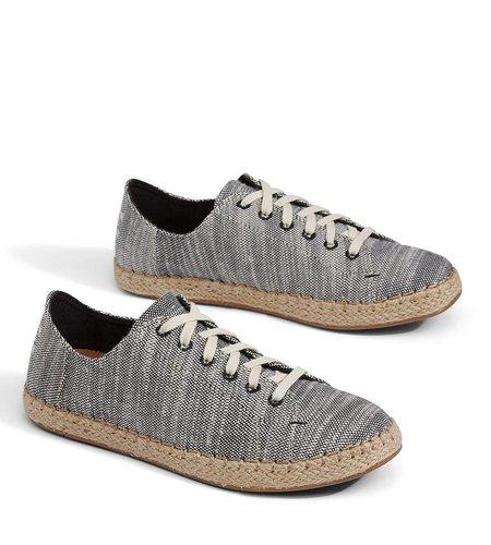 TOMS Lena Slubby Cotton Sneaker Black
