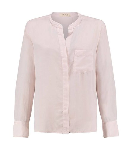 Bella Dahl Slouchy Button Back Shirt Sheer Rose