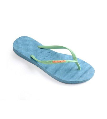 Havaianas Slim Logo Blue Splash