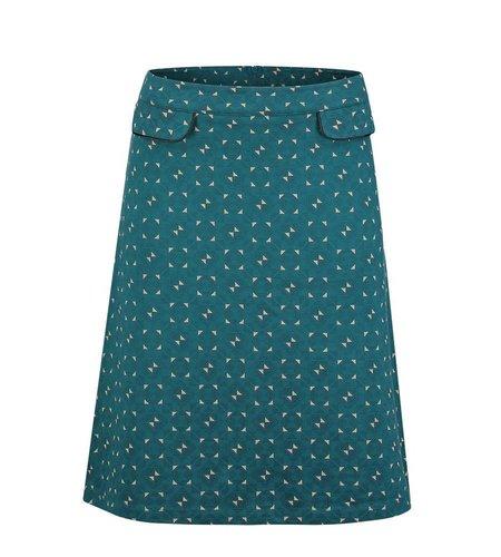 Le Pep Skirt Flora Petrol