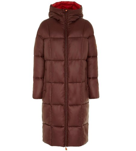 Save the Duck Giga 7 Cappotto Cappuccio Burgundy Black