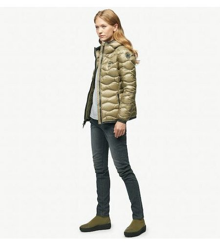 Blauer Greta Wave-Quilted Shiny Down Jacket