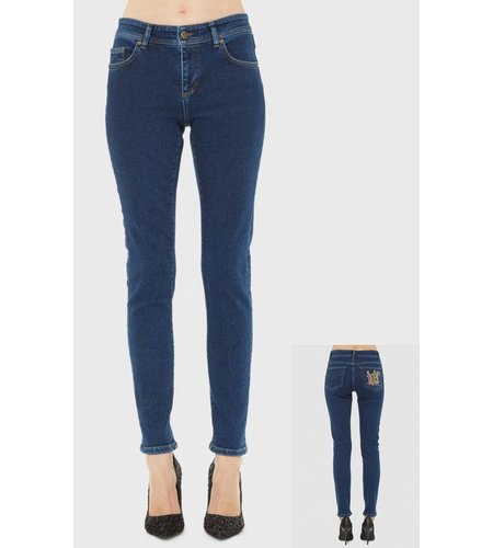 Versace Jeans Skinny Trouser Gothic Style Indigo