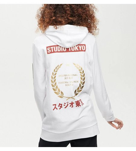Zoe Karssen Studio Tokyo Hooded Boyfriend Sweat Optical White