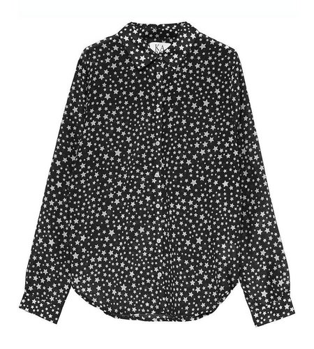 Zoe Karssen Stars All Over Loose Fit Shirt Moonless Night
