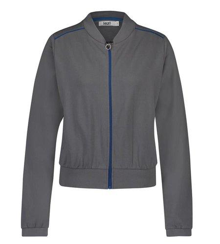 IEZ! Jacket Bomber French Knit Grey