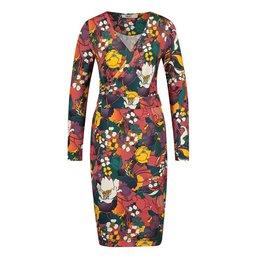 IEZ! Dress Wrap Jersey Print