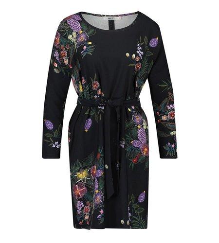 IEZ! Dress Tunic Short Satin Print Purple