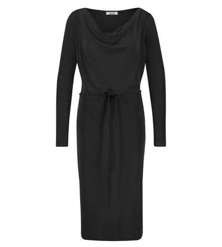 IEZ! Dress Drapy Neckline Modal Black