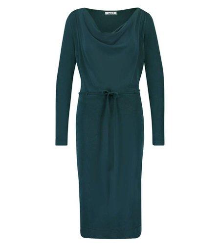IEZ! Dress Drapy Neckline Modal Dark Green