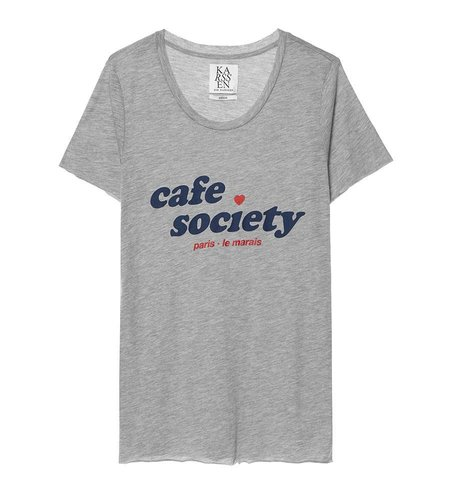 Zoe Karssen Cafe Society Loose Fit T-Shirt Grey Heather