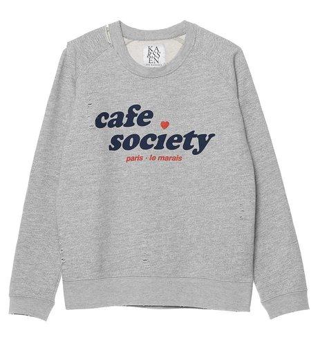 Zoe Karssen Cafe Society Loose Fit Sweat Grey Heather