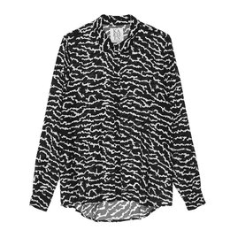Zoe Karssen Animal All Over Crepe Shirt