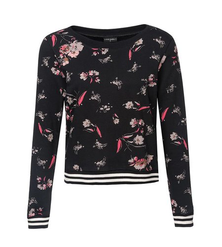Vive Maria Cosy Flower Sweater Black