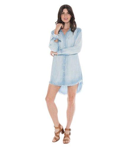 Bella Dahl Frayed Edge Hipster Dress Light Mist Wash
