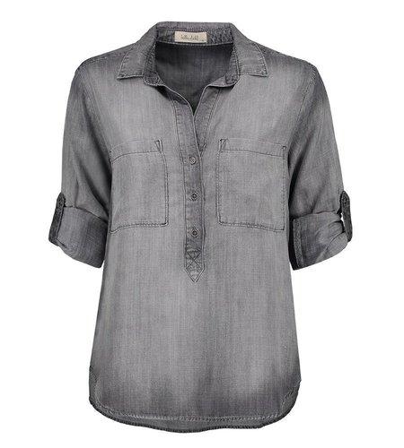 Bella Dahl Pullover Placket Shirt Artic Grey Wash