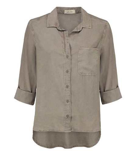 Bella Dahl Shirt Tail Button Down Cement