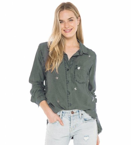 Bella Dahl Pocket Front Shirt Obsidian
