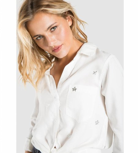 Bella Dahl Pocket Front Shirt White