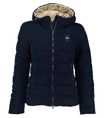 Blauer Down Jacket With Hood in Velvet Blu