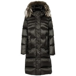 Colmar Glossy Maxi Down Jacket With Fur