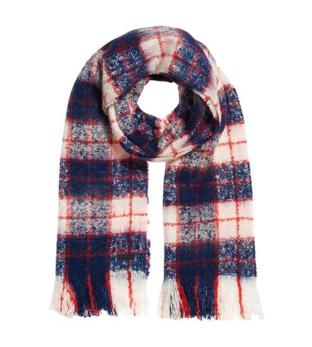 Superdry Super Orkney Scarf Navy Red White