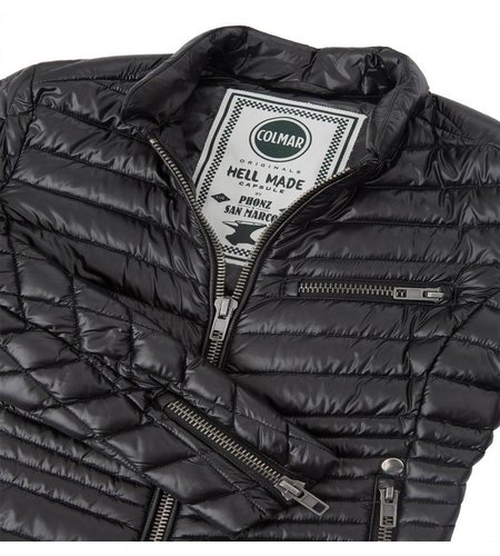 Colmar Down Padded Biker Jacket Black