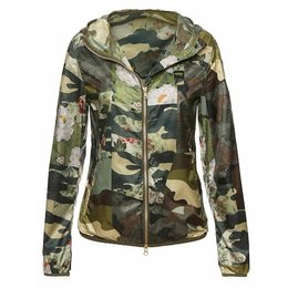 Blauer Leah Camouflage Hooded Windbreaker