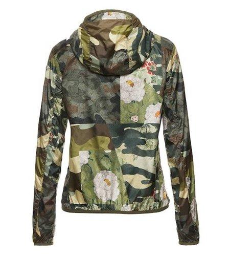 Blauer Leah Camouflage Hooded Windbreaker Alpine Green